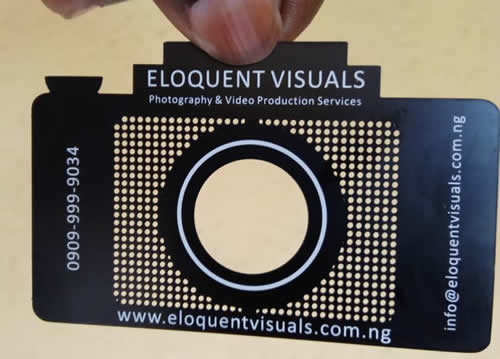 Eloquent touch media here are sample of metal business cards with matt black finish and silver gold finish reheart Images