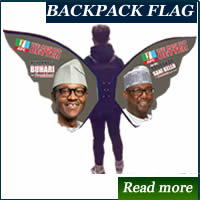backpack advertising in Lagos, Nigeria