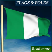 Nigeria Flag makers in Lagos, Nigeria