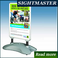 pavement signs with snap frame