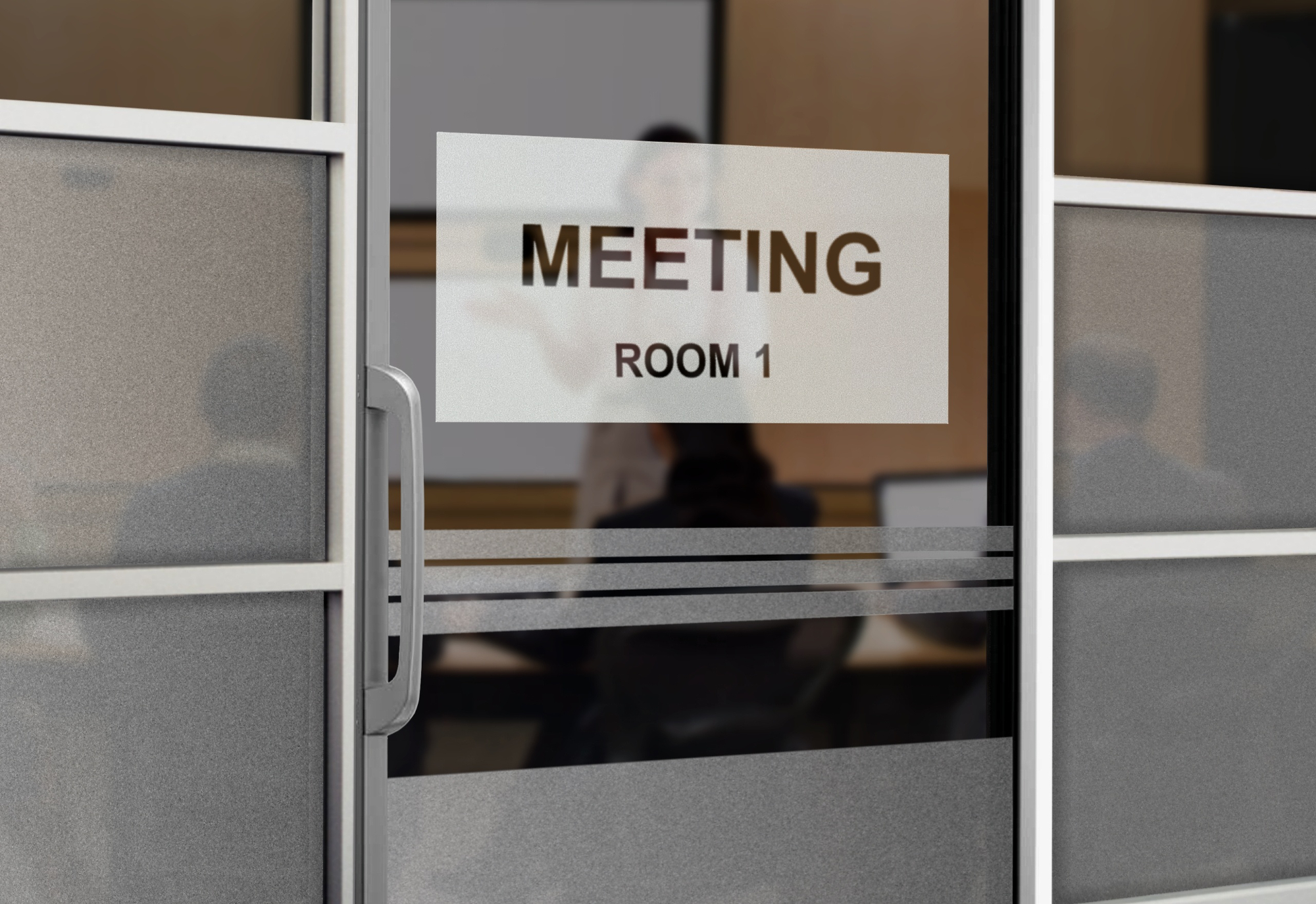 Glass Conference Room Signs