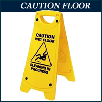 wet floor sign in Lagos, Nigeria