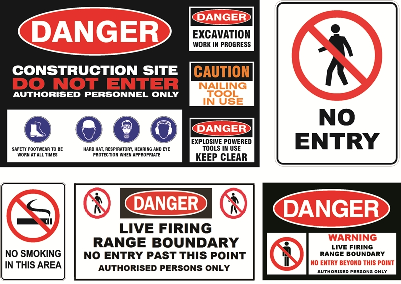 construction signs in Lagos, Nigeria