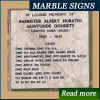 Marble and Granite signs shop in Nigeria
