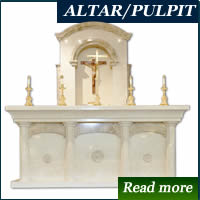 marble altar and pulpit in Lagos, Nigeria