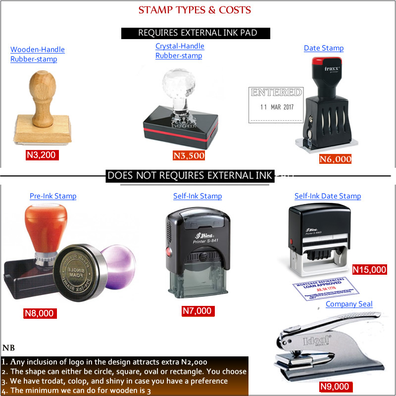 Cost Of Making Rubber Stamps In Nigeria