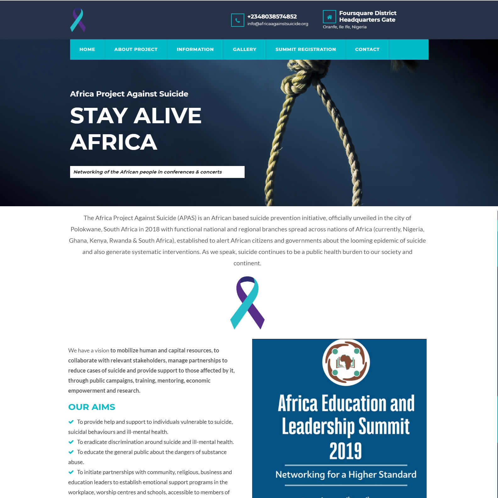 NGO website design in Nigeria