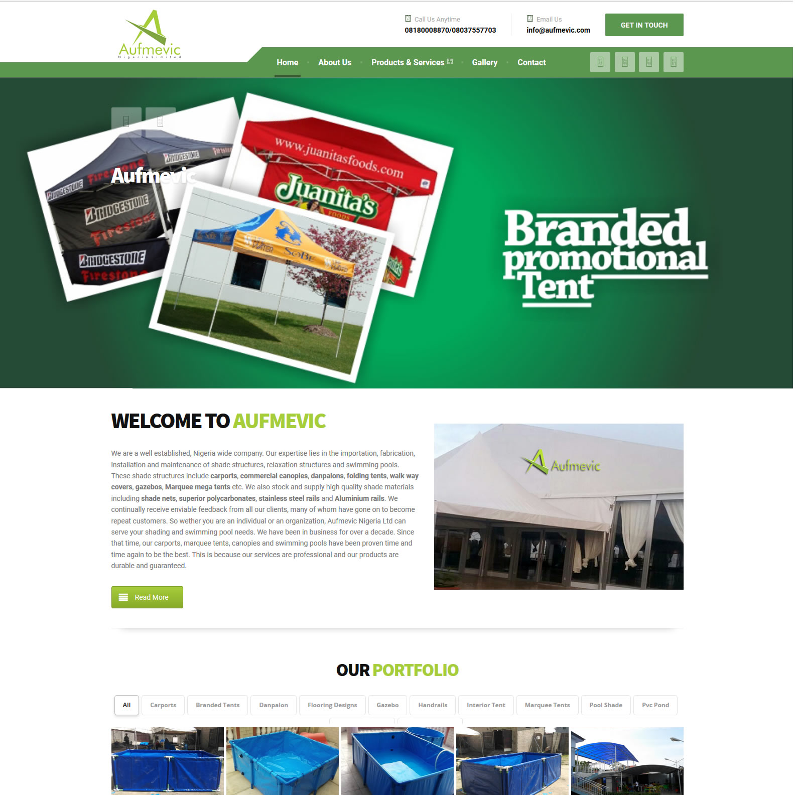 Construction website design Nigeria