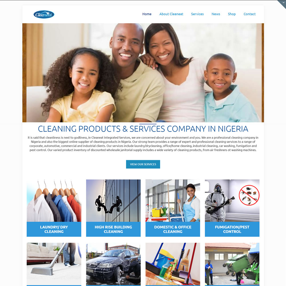 Cleaning website designer in Lagos
