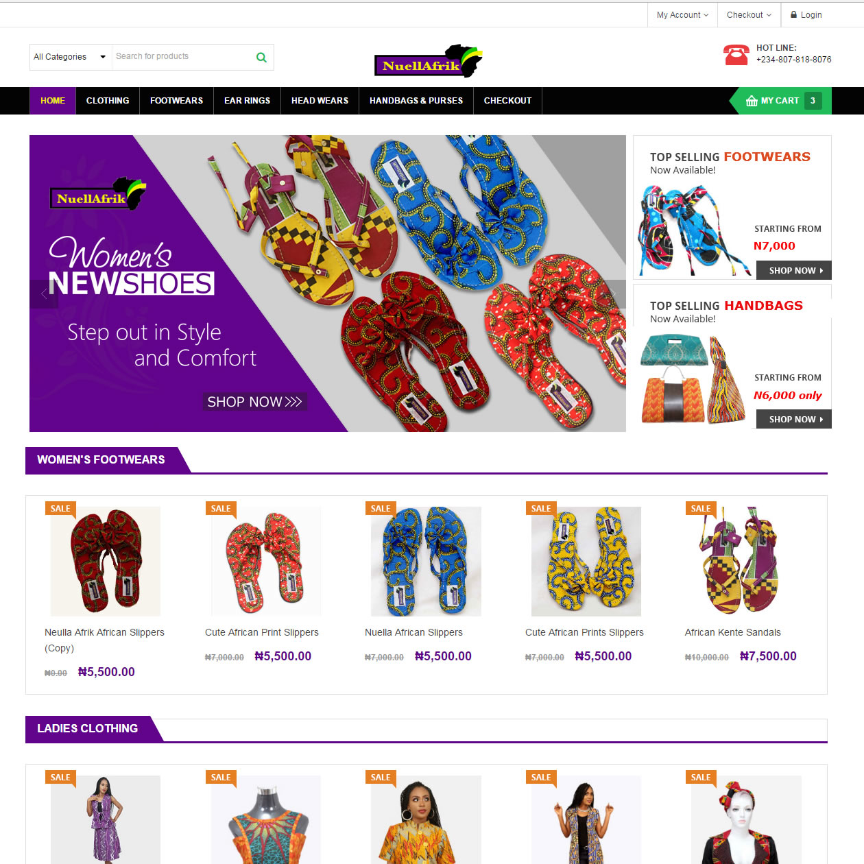 fashion ecommerce website designers in Nigeria Africa