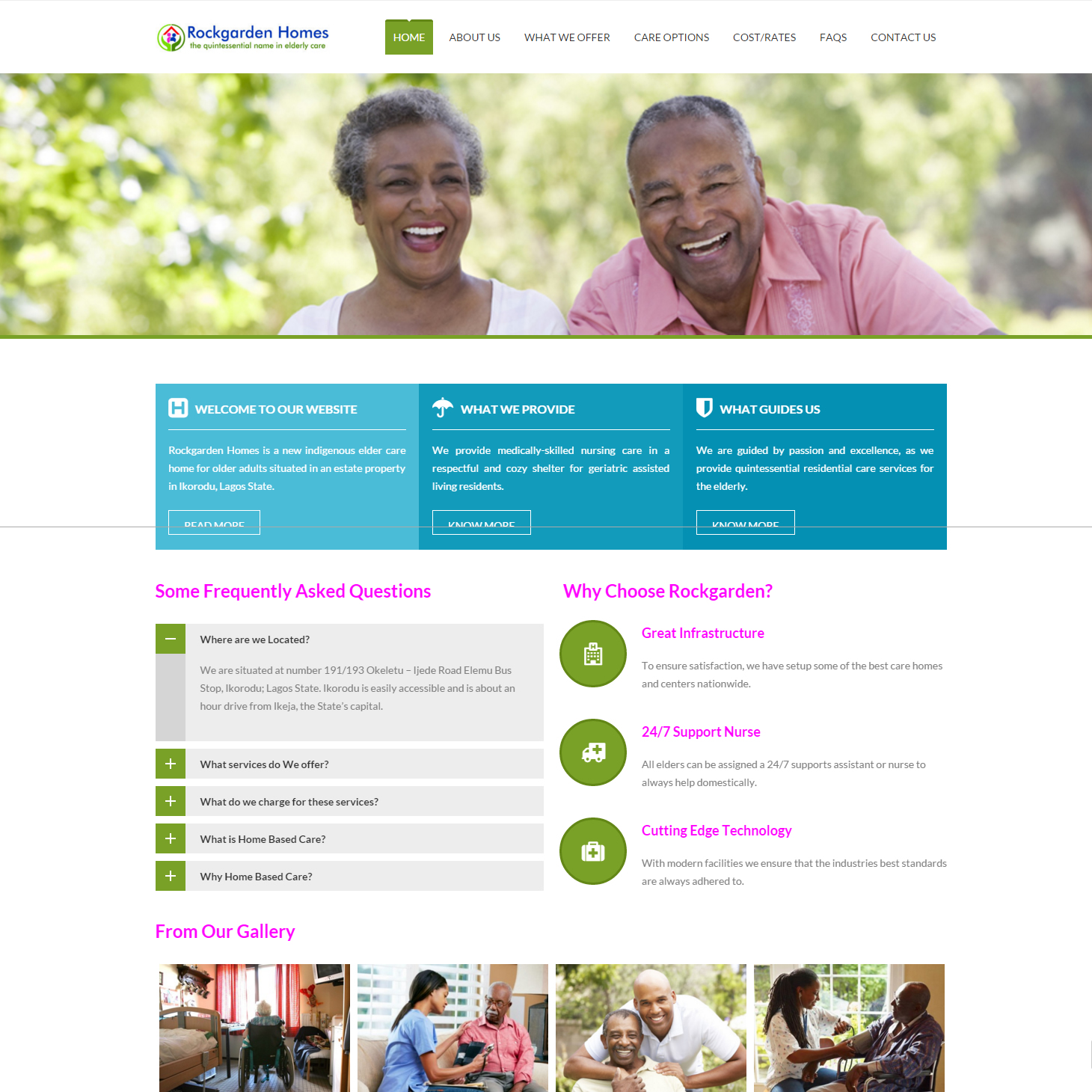 Elderly care Website designers in Ikeja, Lagos