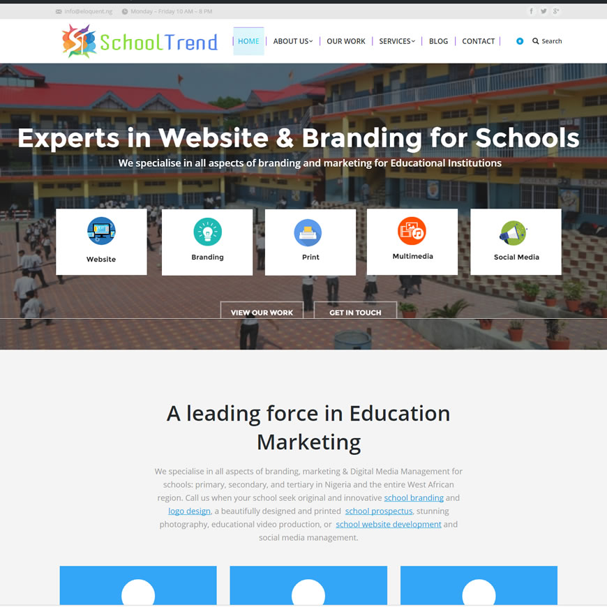 School website design in Nigeria